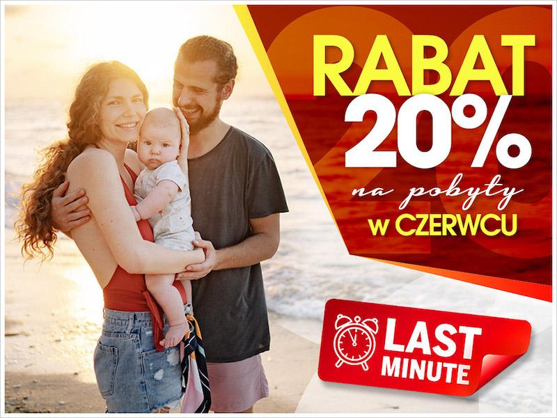 Rabat 20% na pobyty w czerwcu!